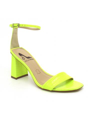 sandales à talons - fushia