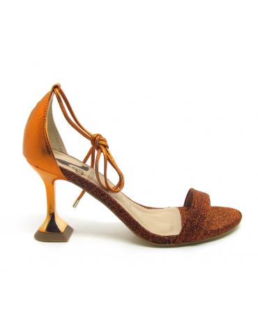 sandales à talons large - bleu