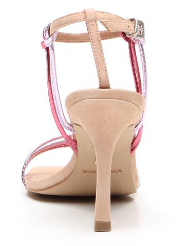 chaussure à talon avec lacets - turquoise blanc