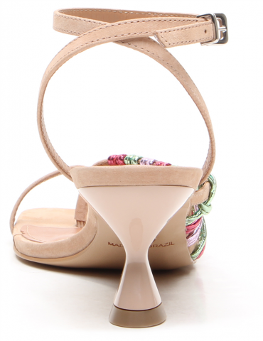 sandales à talons, bride vinyl, lanière noeud