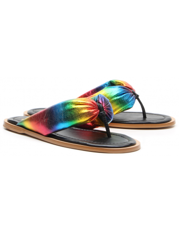 sandales à talons cuir et vinyl