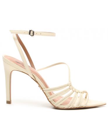 sandales à brides rondes talons carrés