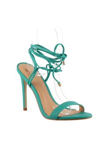 sandale plate empierrée - kaki