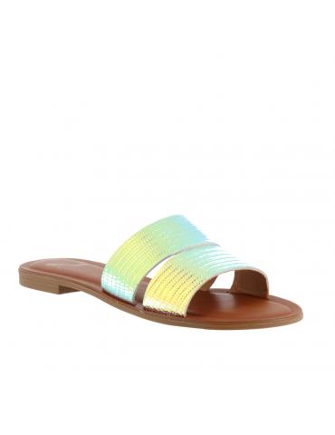 sandale plate empierrée