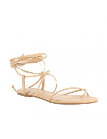 sandale compensée - Marron et tapisserie