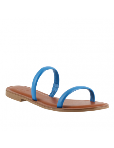 sandale à talon carré médium - blanc