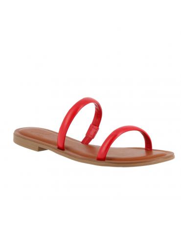 sandale à talon carré médium - beige