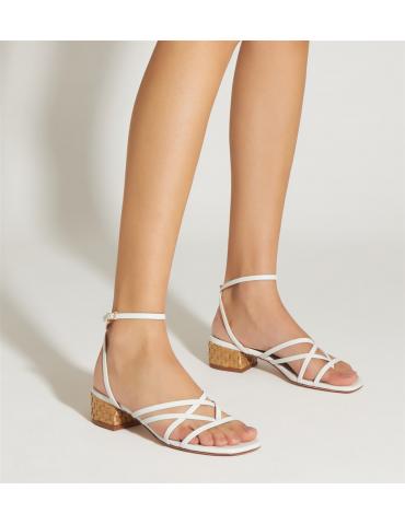 sandale à talon haut - noir
