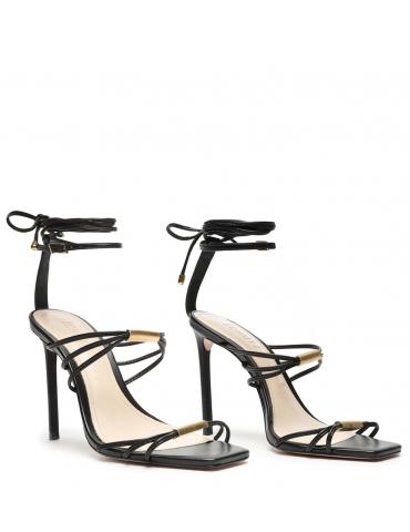 sandale à talon haut - beige