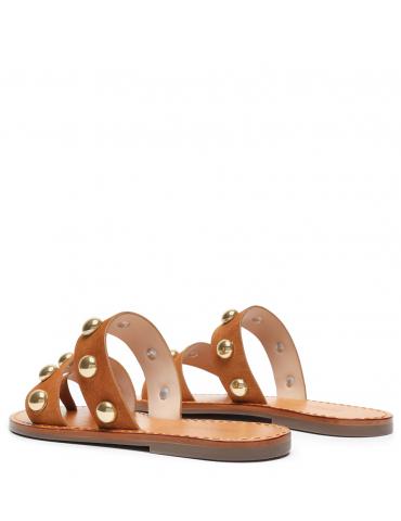 sandale petit talon - noir