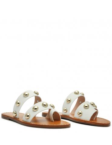sandale petit talon - bordeaux