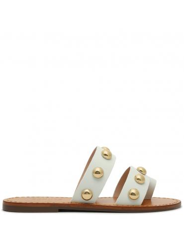 sandale petit talon - rose