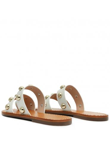 sandale petit talon - gris
