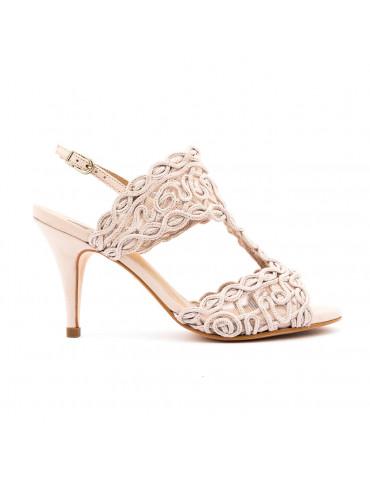 sandales à talons - doré
