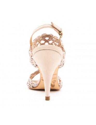 sandales à talons - argent