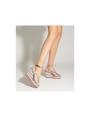 sandales à talons bride avant fine - argent