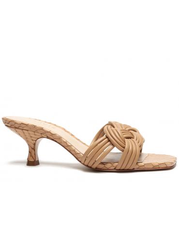 sandales à talons bride avant fine - Bleu clair