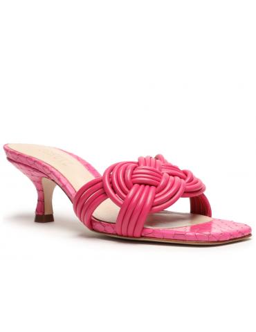 sandales à talons bride avant fine - doré