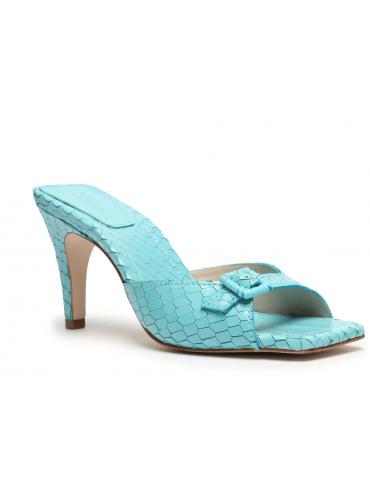 sandales à talons 4 brides+ métal - violet