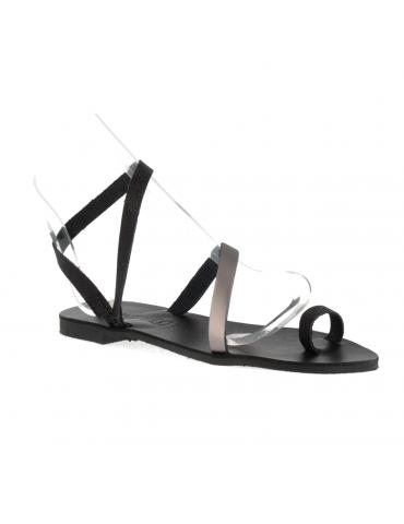 sandales gisèle petits talons - rouge écarlate