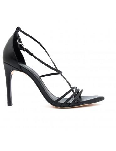sandales à talons design - fleuri