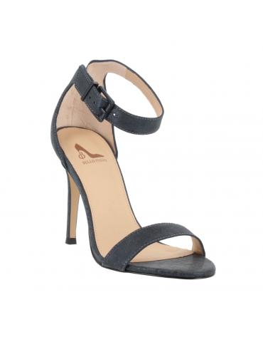 sandales cuir et textile