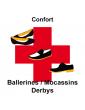 ballerines/mocassins/derbys