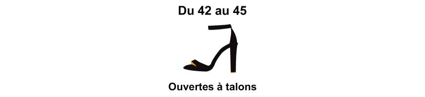 Grandes pointures chaussures ouvertes à talons